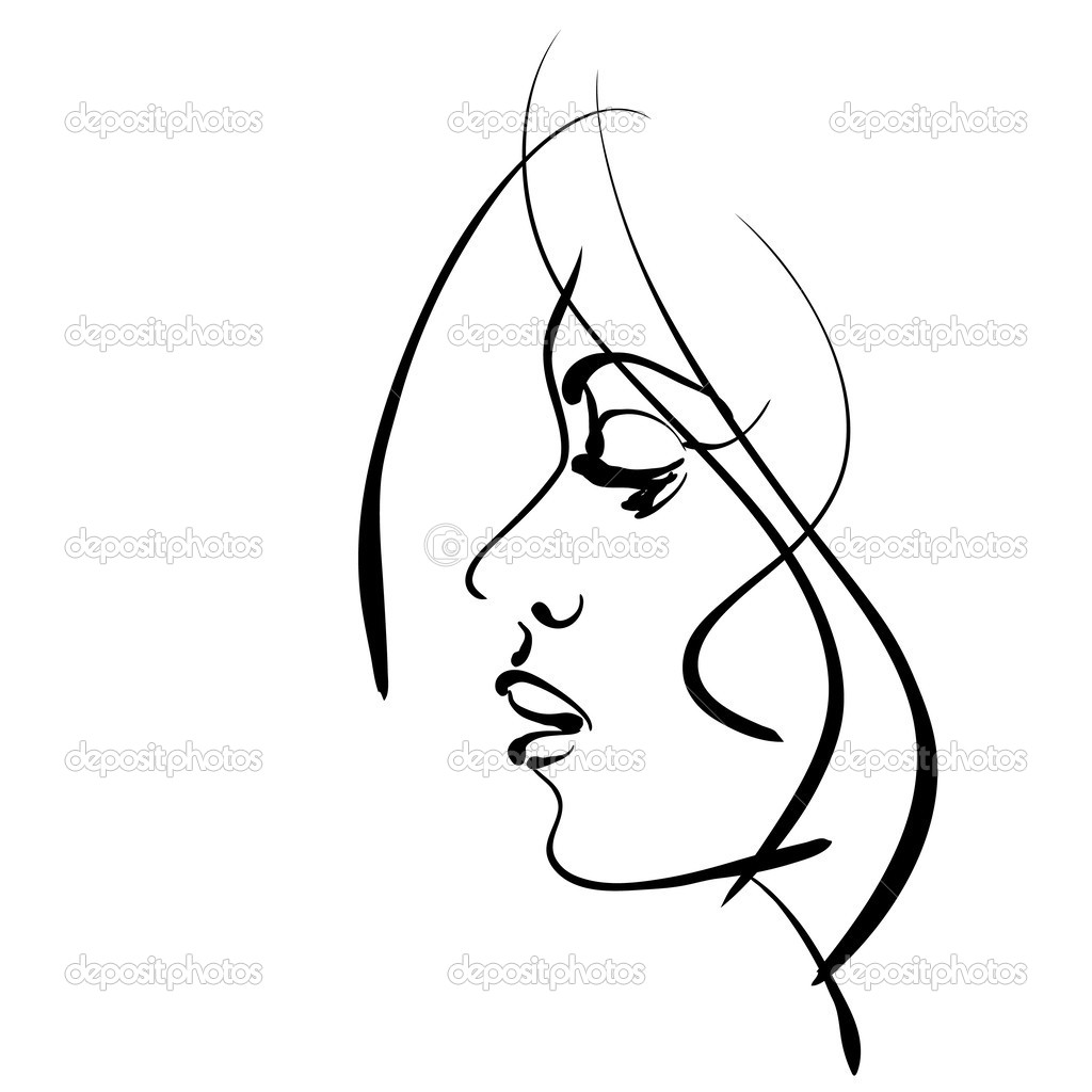 Sketch clipart beautiful lady Beautiful Panda Girl Free Face