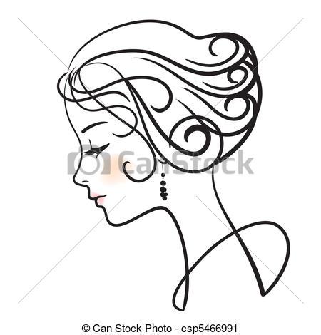 Sketch clipart beautiful lady Vector beautiful Clipart beautiful vector