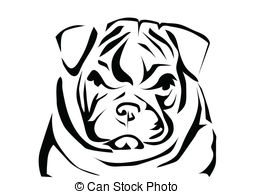 Sketch clipart british bulldog Silhouette English  Illustrations abstract