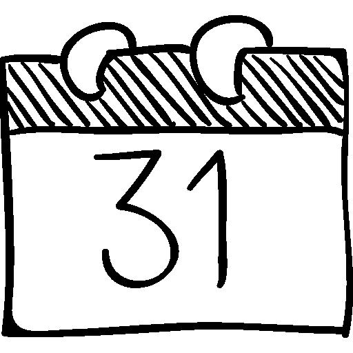 Sketch clipart calendar Sketch October icon 31 Free