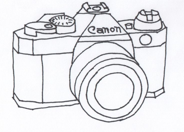 Drawn camera easy On Best on the drawing