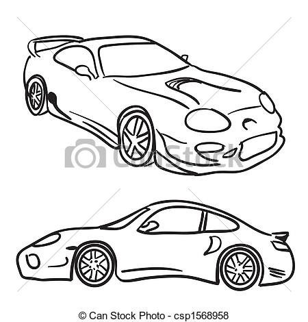 Sketch clipart car 593 drawings and sports art