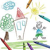 Crayon clipart crayon drawing · Drawing drawing set kid