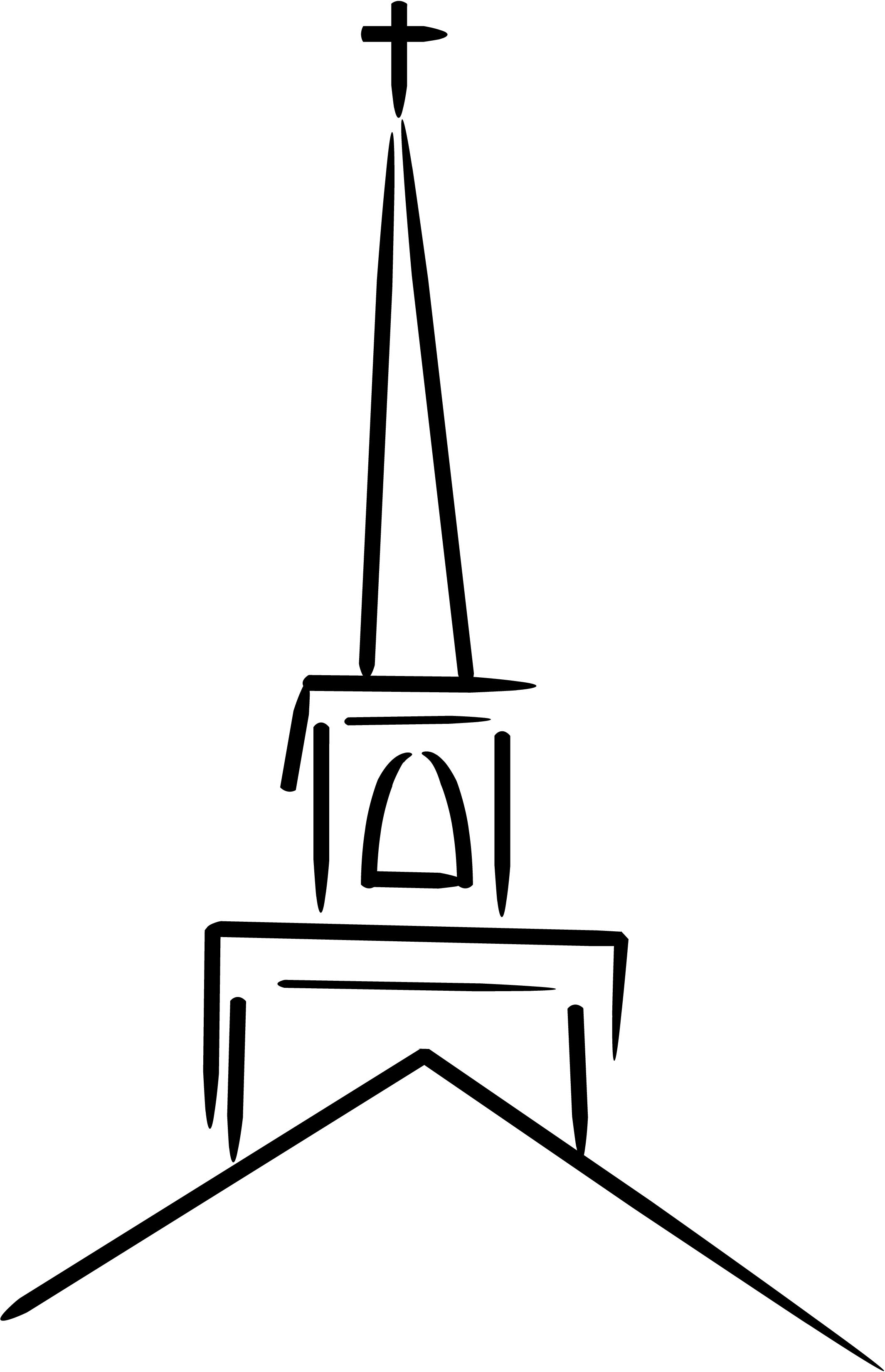 Sketch clipart church Sketch Cross  sketch Church
