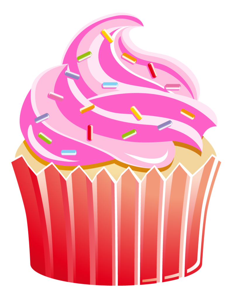 Pice clipart pink cupcake #4