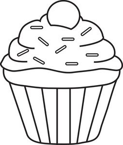 Frosting clipart black and white On Sprinkles 25+ best Cupcake