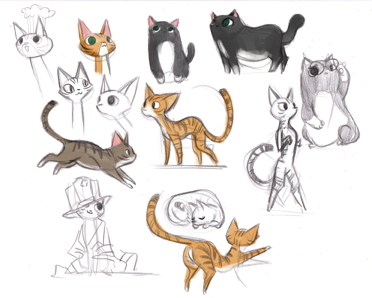 Sketch clipart cute cat By sketches victoriaying  deviantart