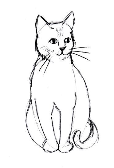 Sketch clipart cute cat Drawing Line Cute Pinterest Cats