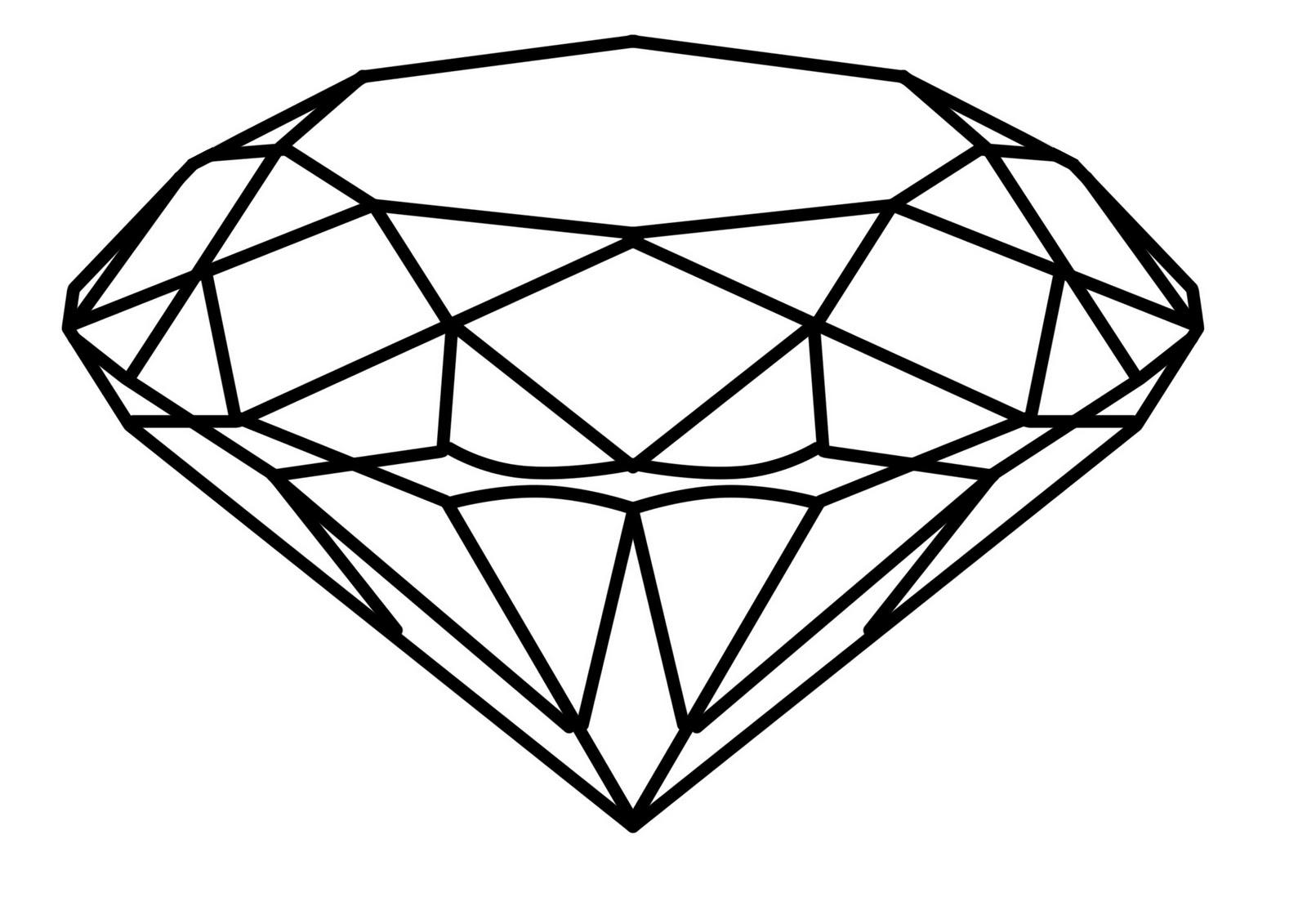 Sketch clipart diamond outline  Art Outline Download on