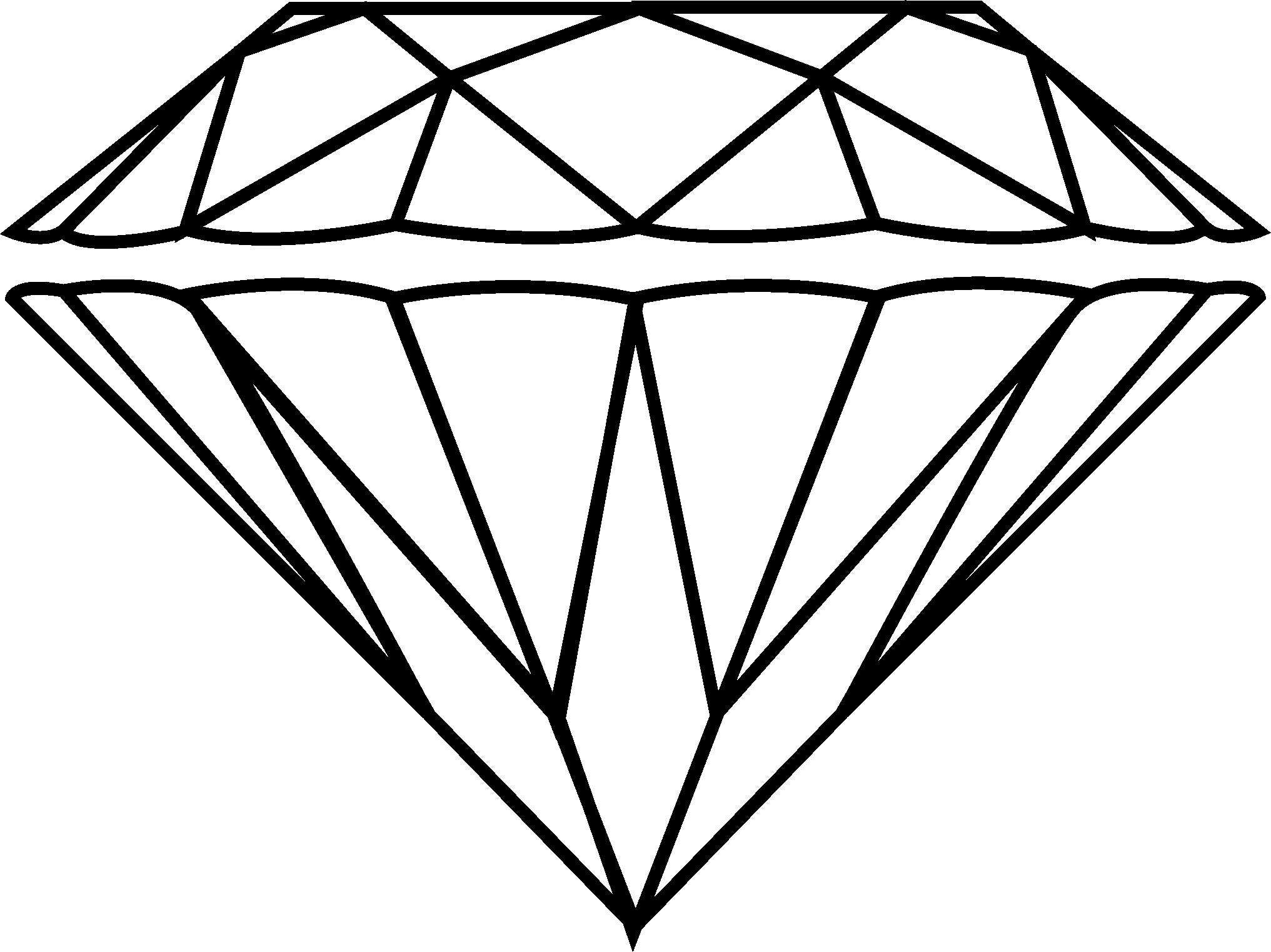 Sketch clipart diamond outline – com clipart drawing 2