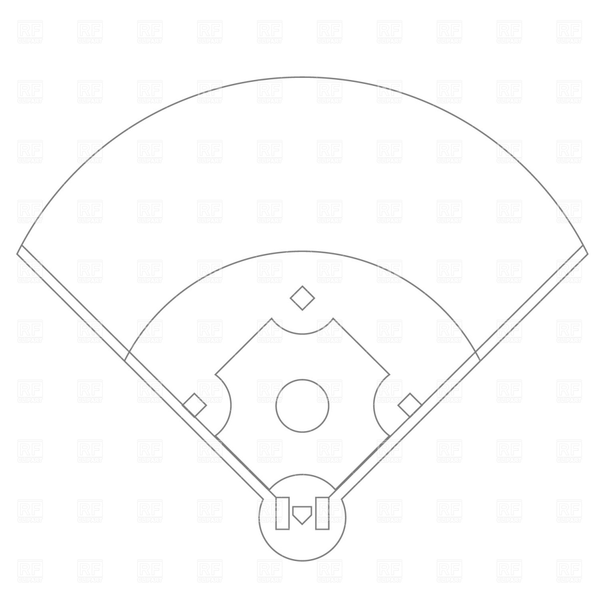 Drawn baseball 6 Clip Vector Outline New