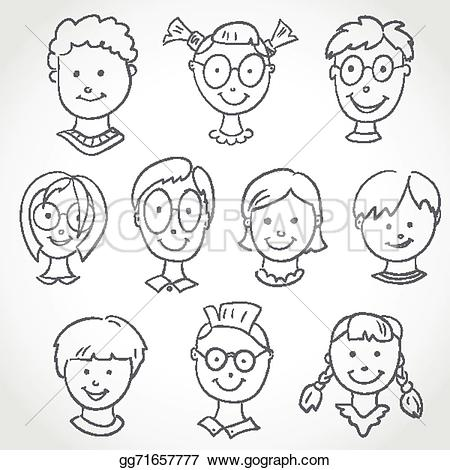 Sketch clipart face Stock Clip Stock sketch Art
