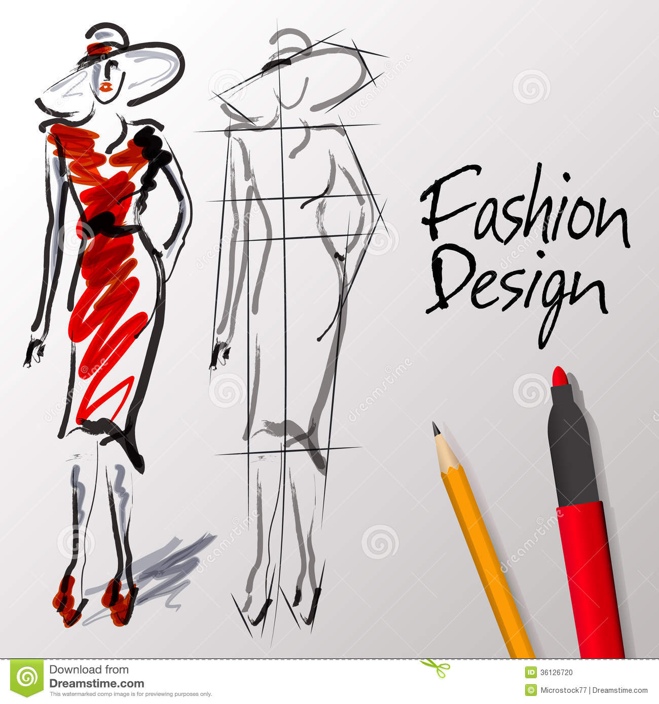 Sketch clipart fashion design Fashion Download Fashion Sketch Clipart