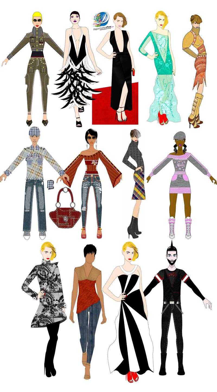 Sketch clipart fashion design Sketch  the Fashion Digital