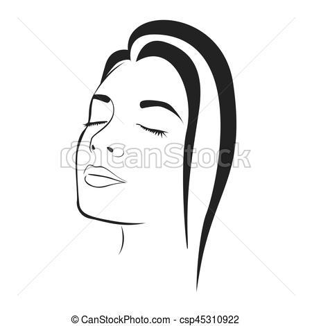 Sketch clipart female face Of silhouette silhouette female sketch