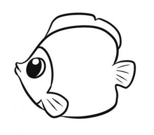 Sketch clipart fish  a to and up!!