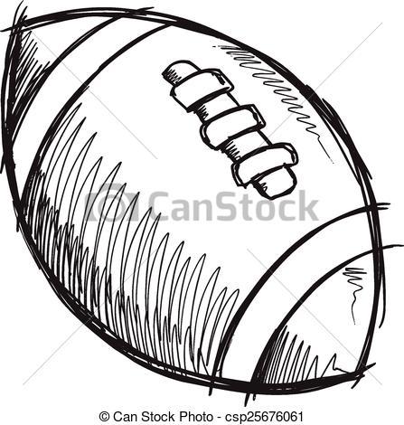 Sketch clipart football Vector Clip Football  csp25676061