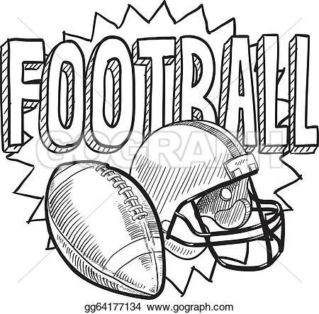 Sketch clipart football Sketch American sketch Vector