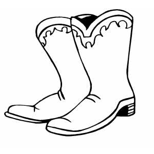 Drawn boots cartoon Cowboy Color collection clipart and
