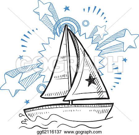 Sketch clipart fun Gg62116137 fun Sailboat Vector GoGraph