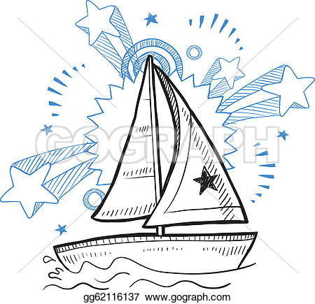 Sketch clipart fun Art Sailboat fun sketch Drawing