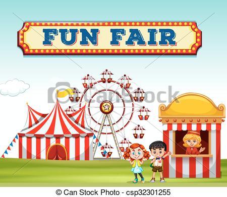 Sketch clipart fun Fun at fair buying ticket