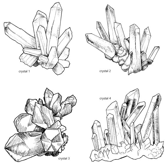 Sketch clipart gemstone Clipart Magical file Crystal This