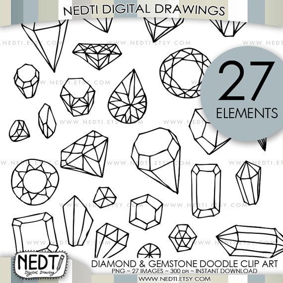 Sketch clipart gemstone Clipart Doodle  Diamond and