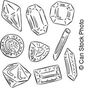 Sketch clipart gemstone Sketch of Clipart Vector icon