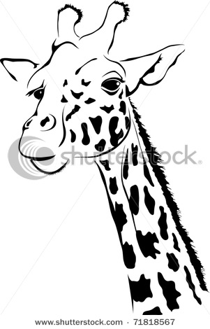 Simple clipart giraffe #12