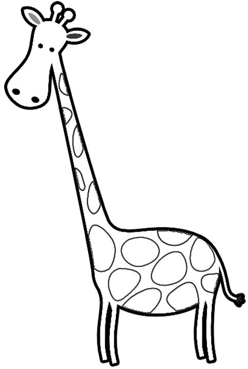 Black & White clipart giraffe Giraffes Coloring Coloring Cartoon Giraffes
