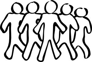Sketch clipart group person Clipart Download Clipart and black
