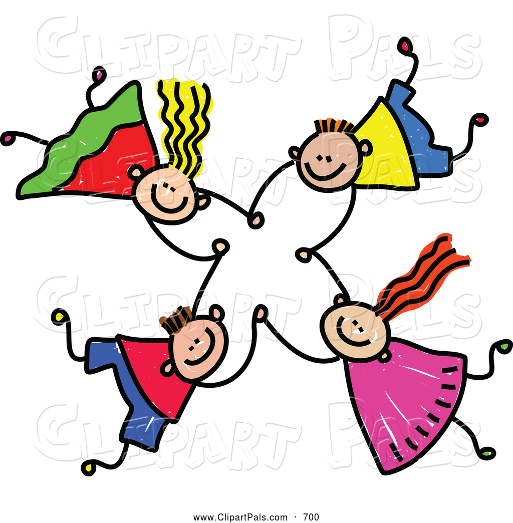 People clipart group four Holding Free Images Art Clipart