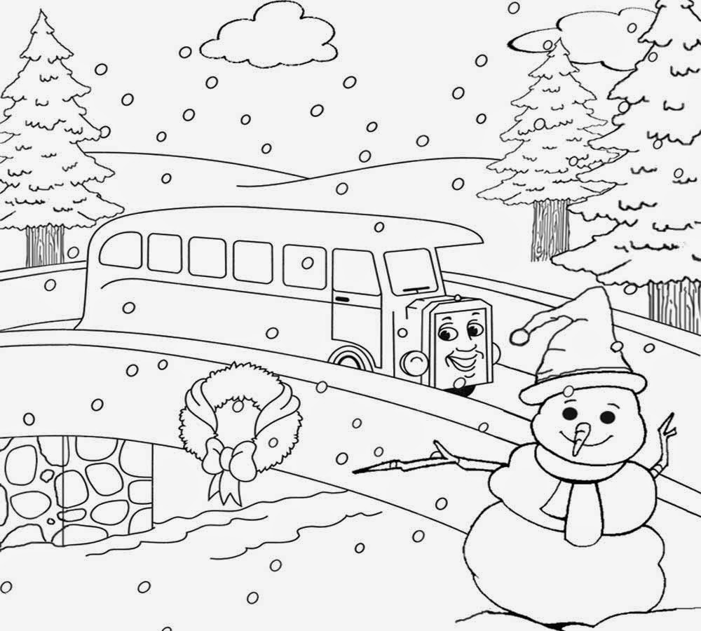 Scenery clipart line drawing #3