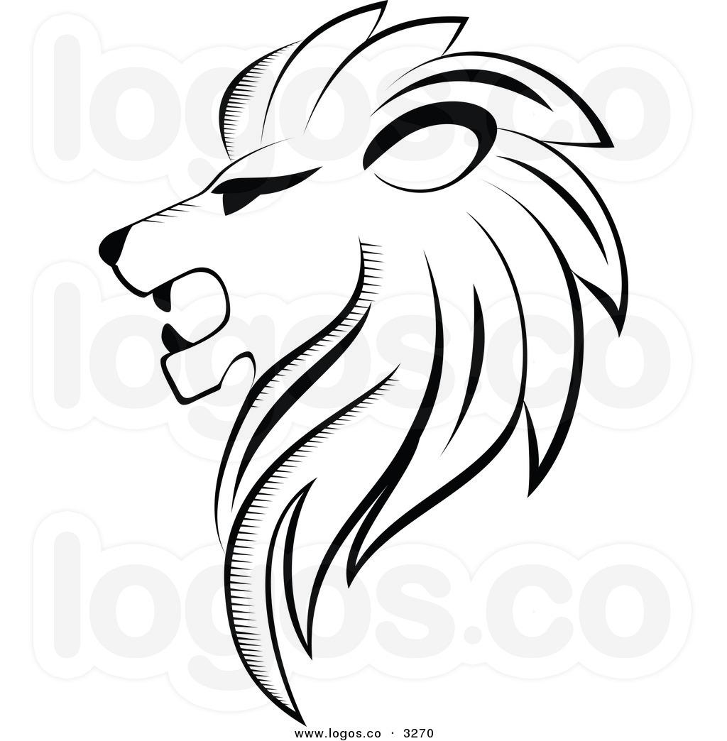 Sketch clipart lion profile Lion pw Art Lion Black