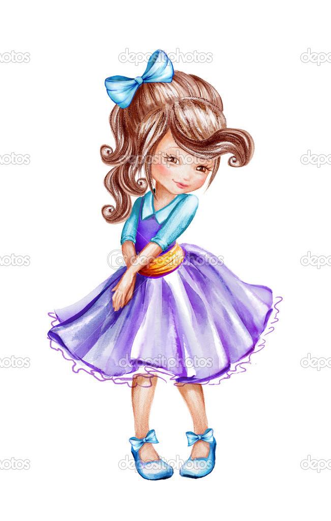 Sketch clipart little Photo girl wacomka Stock ©