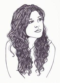 Sketch clipart long hair Search clip Google hair Google