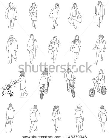 Sketch clipart lot person Vector Urban people Lots drawing