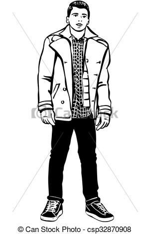Sketch clipart man A with Clipart young sketch