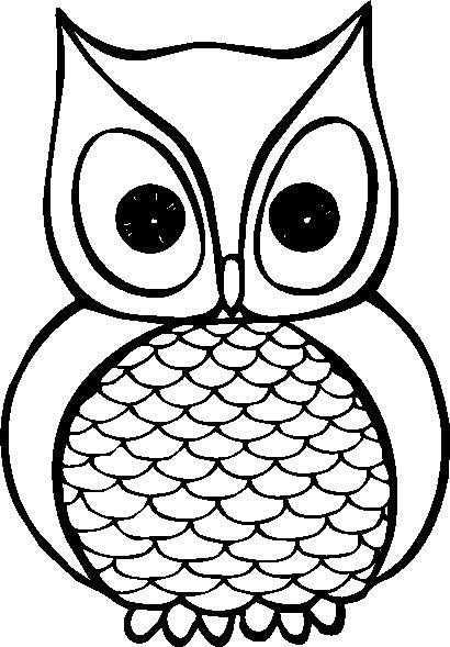 Owlet clipart black and white Simple Pinterest Owl 25+ Best