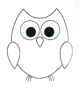 Simple clipart owl Owl Pinterest Gifts Owl Outline
