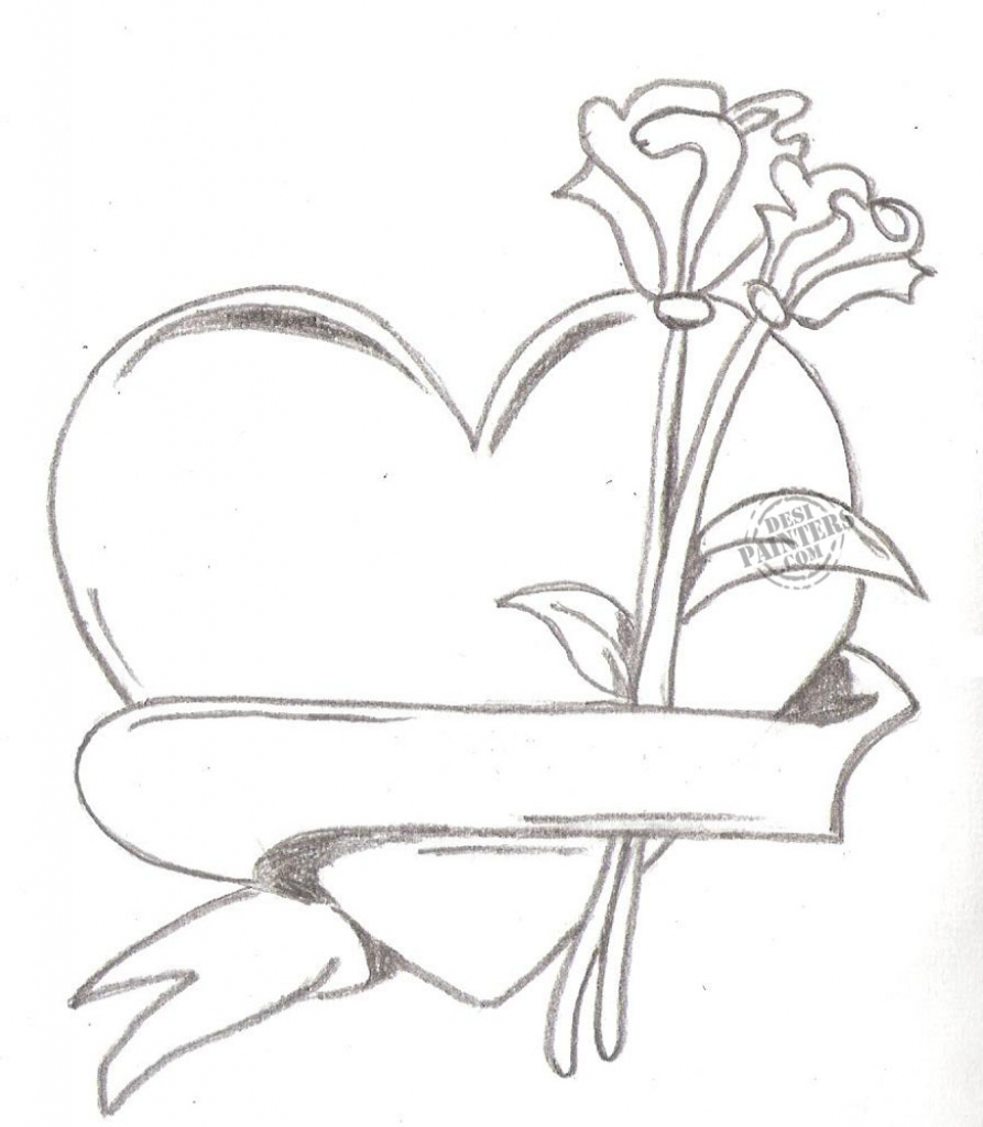 Sketch clipart pencil drawing With Drawing Heart Free Sketch