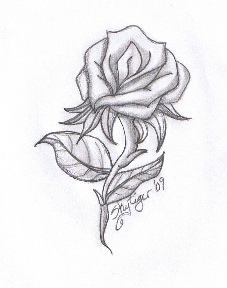 Drawn hearts pencil drawing Free Rose  Gallery Art