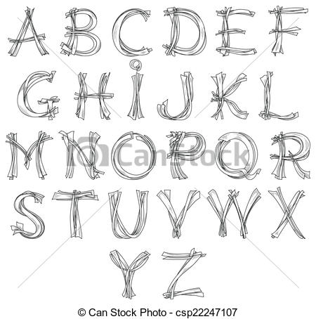 Sketch clipart pencil drawing Alphabet Clipart Sketch look for