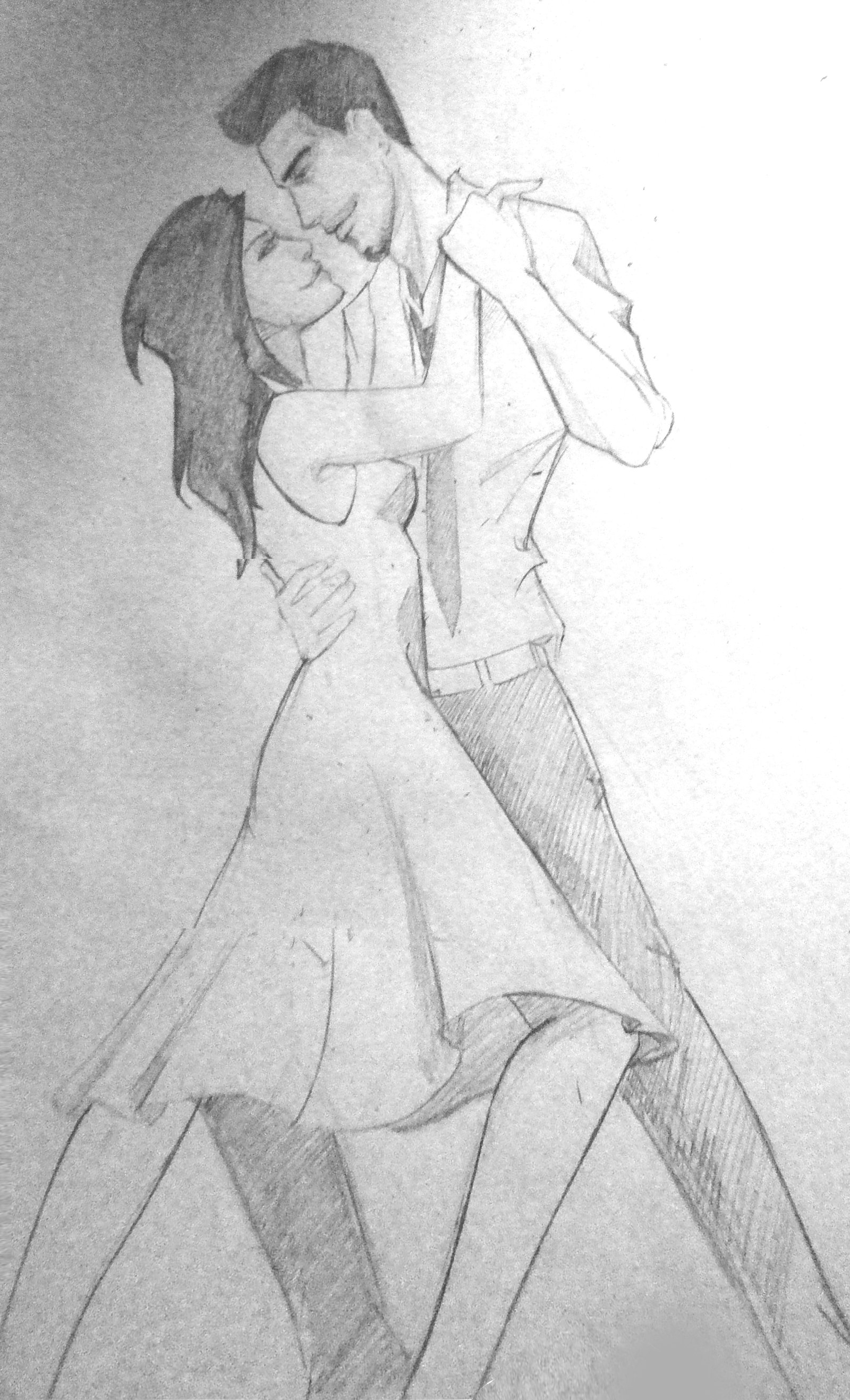 Sketch clipart pencil drawing Download Love Dance on Clipart