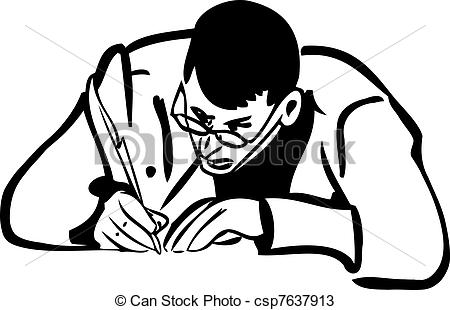 Sketch clipart person Man sketch man of writing