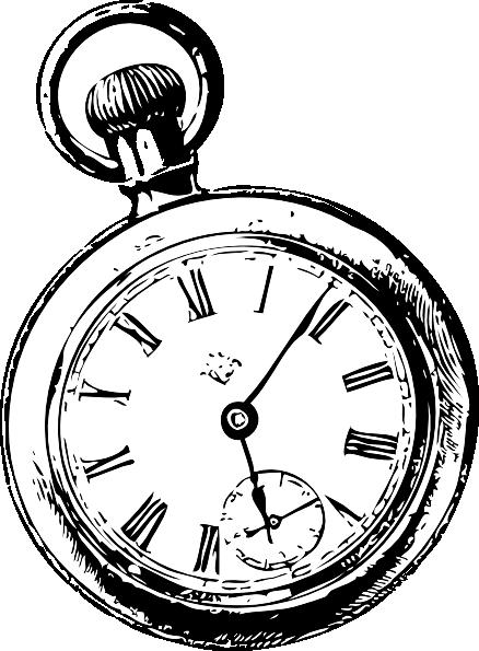 Pocket Watch clipart alice in wonderland Pocket Watch Sketch Art clip
