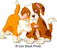 Sketch clipart puppy kitten 196  Stock Puppy 40