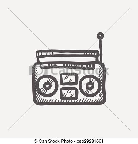 Sketch clipart bomb Sketch Clip Cassette of csp29281661