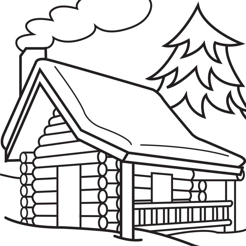 Winter clipart log cabin Clip Cliparts Clipart Rustic Download